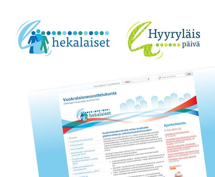 Projekti: Logo ja nettisivut Helsingin kaupungin asunnot Oy, www.hekalaiset.fi
