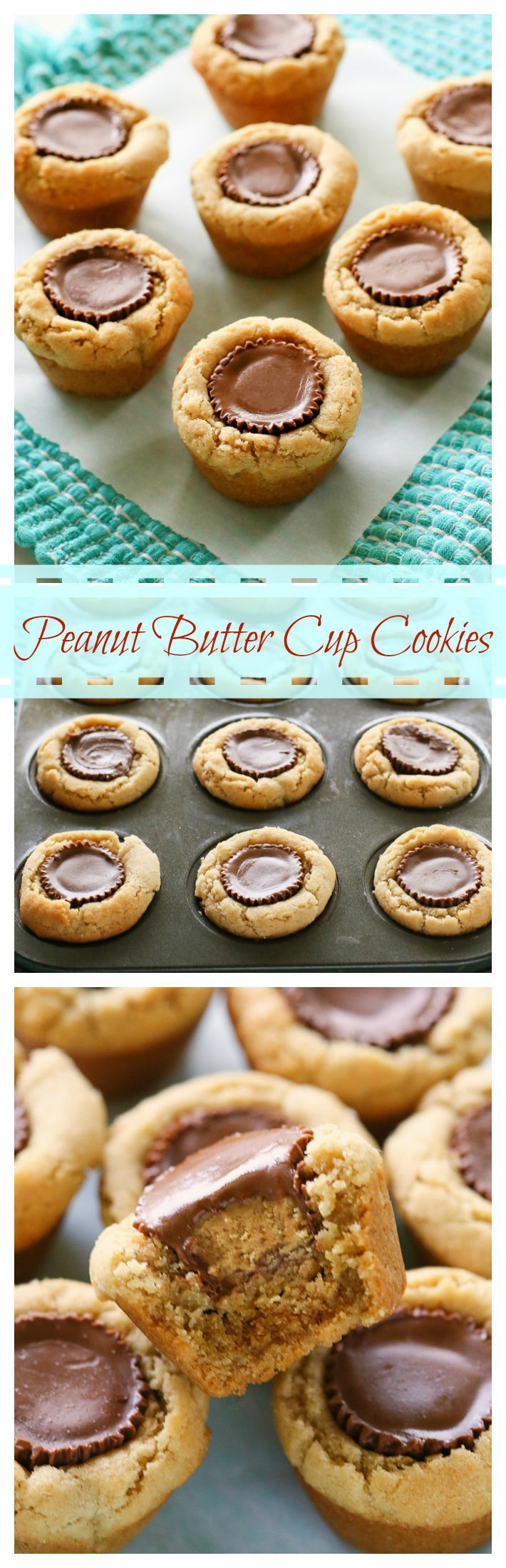 Peanut Butter Cup Cookies - a fool proof recipe that is always a hit. http://the-girl-who-ate-everything.com