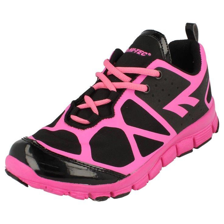 Hi-Tec Kali Xt Ladies Black & Pink Lightweight Trainers (36B) (Kett)
