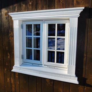 #vindusomramming type NINA. #omramming #omramminger #hytte #cabin #hytteliv #tømmerhytte #loghouse #wood #wooddesign #trevare #stavlaft #arkitektur