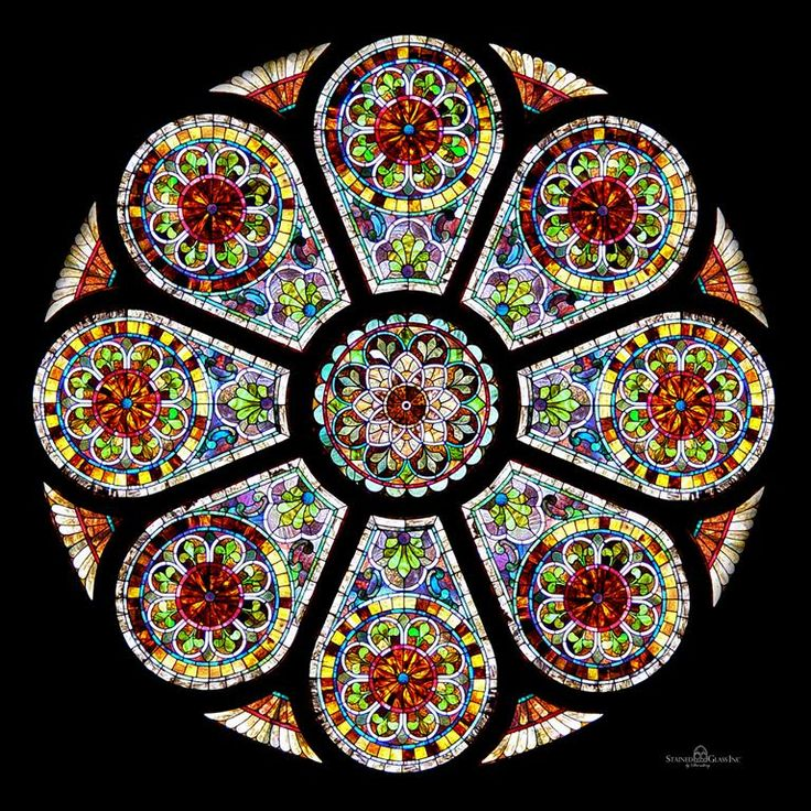 20 best images about stained glass windows on pinterest for Rose window design