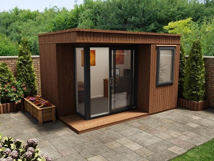 lienne mkiii left w38m x d27m garden offices - Prefab Office Shed
