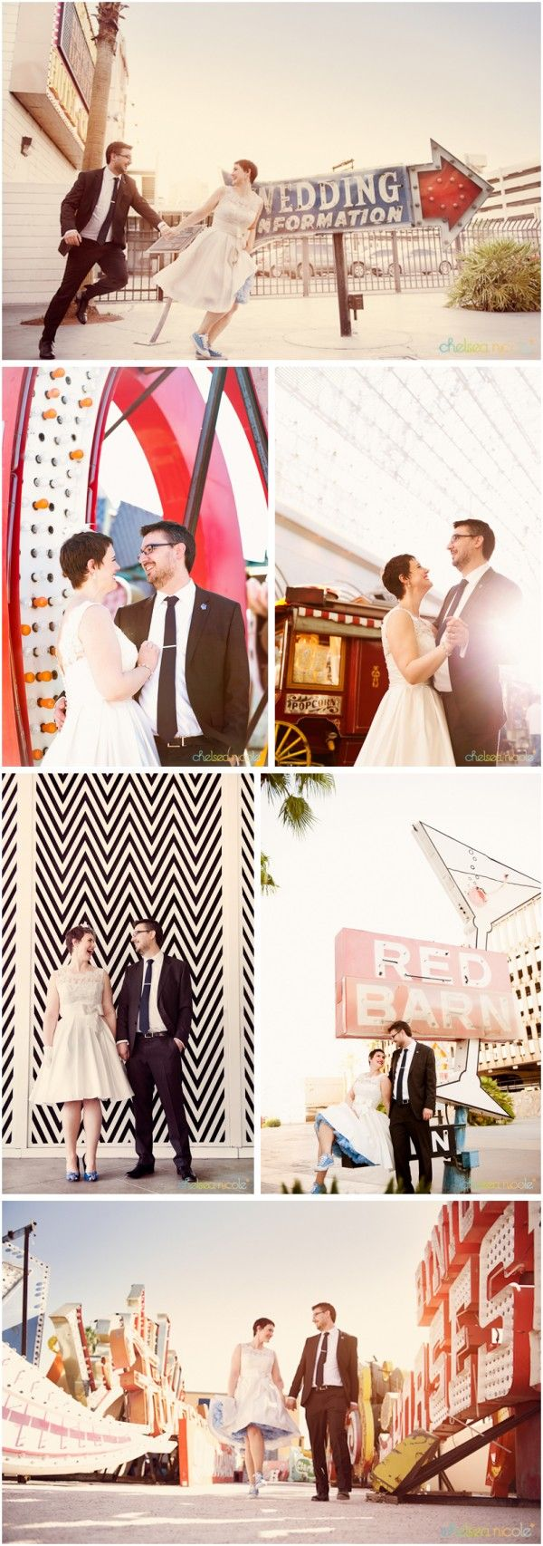 Little Vegas Wedding | Vintage, Retro Style Playful Elopement {Neon Museum} | http://www.littlevegaswedding.com