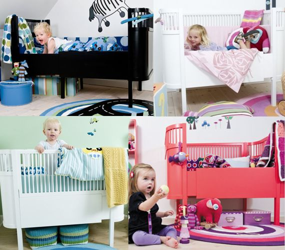 Looove this childrens bed... make it longer as your baby grows!