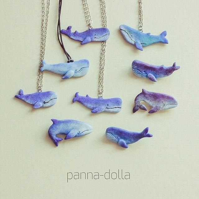Новенькие киты в наличии! Брошки и подвески Полимерная глина 400р Завтра буду…