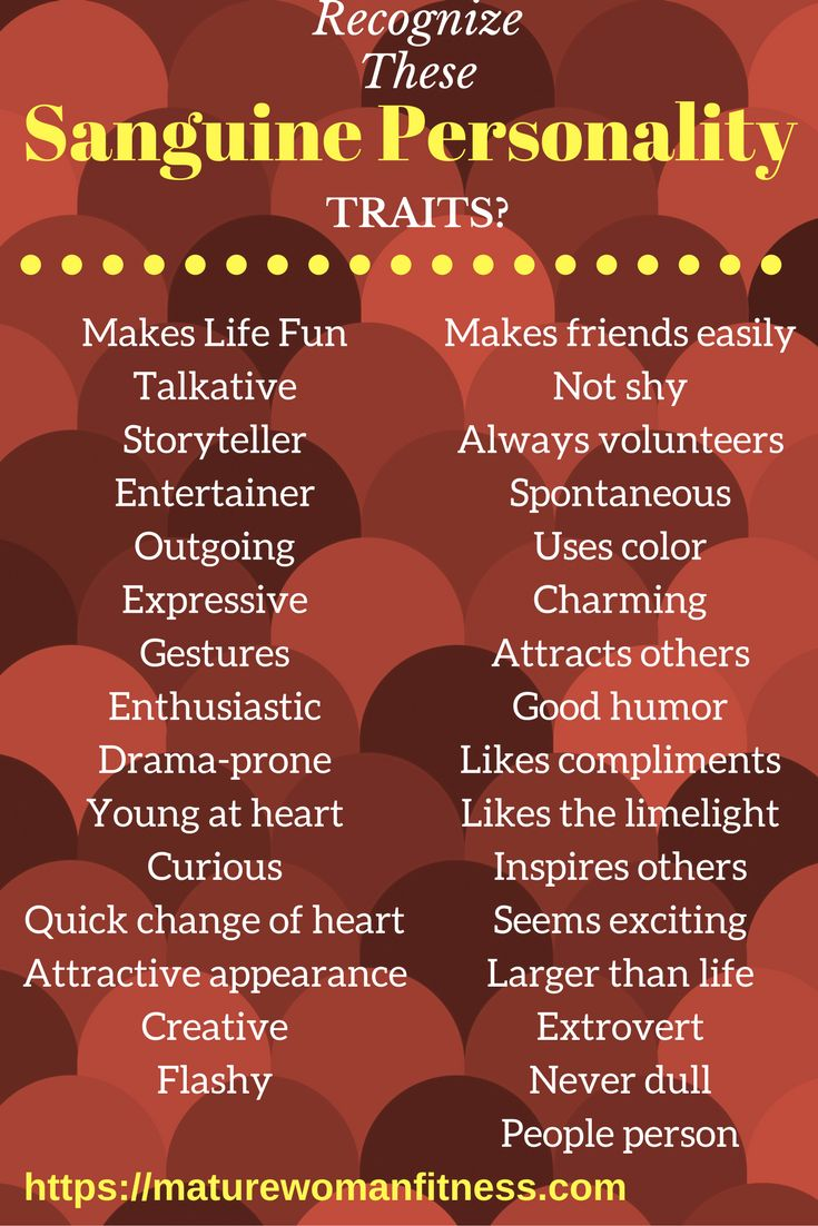 Recognizing the Sanguine personality traits in yourself and others.