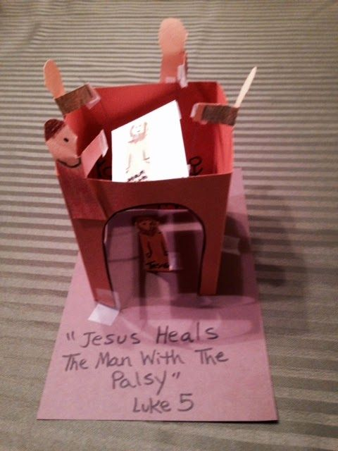 1000 images about nt four friends on pinterest jesus for Jesus heals paralyzed man craft