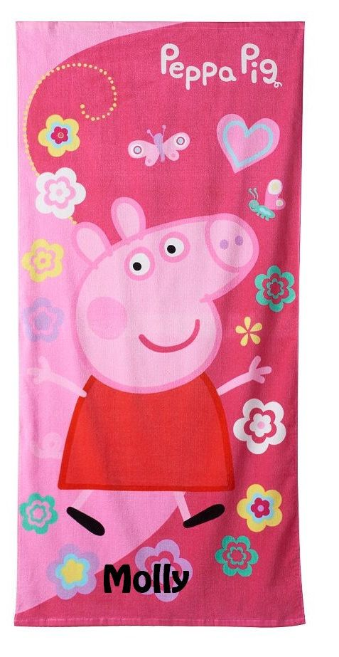 One Peppa Pig Peppa's Garden Beach Towel - Personalized by CACBaskets on Etsy