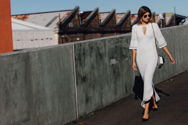 crochelinhasagulhas: Vestido em crochê na Semana de Moda Australiana 20...