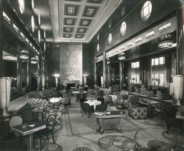 First Class Lounge On The Queen Mary 1936 Images From