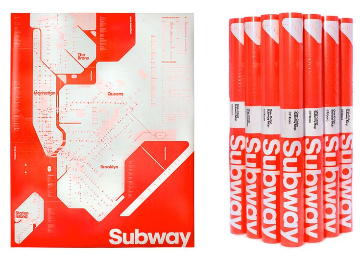 One-colour New York subway map #onecolour #newyork #map #subway #poster