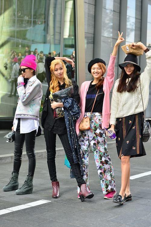 Streetstyle: Irene Kim, Jung Hoyeon, Baek Jiwon and Lee Sunjeong shot by Baek Seungwon at Seoul Fashion Week S/S 2014
