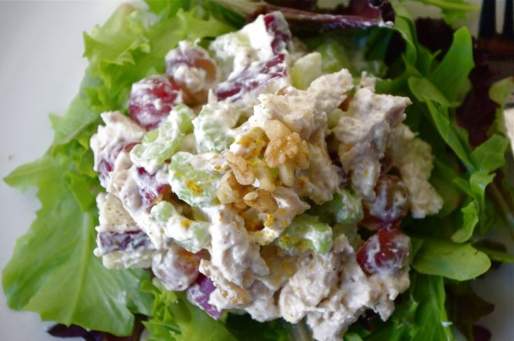 Skinny Chicken Waldorf Salad   Salads   Pinterest