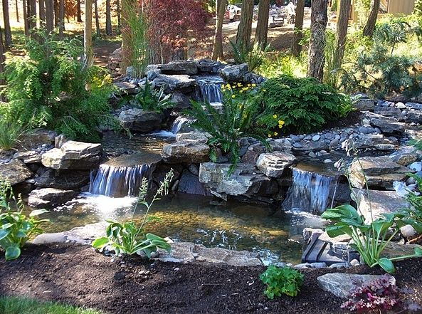 111 best Landscaping-Ponds images on Pinterest | Waterfalls ... Fountain Garden Ponds Design Ideas E A on