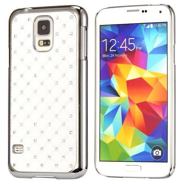 Diamantjes wit hardcase hoesje voor Samsung Galaxy S5