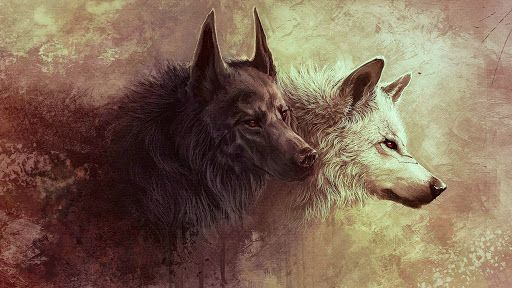 Image result for two wolves tattoo