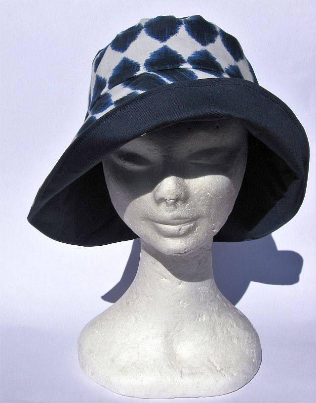 cappello donna blu, elegante, feminile, falda larga, primaverile estivo,fatto a mano, blu, womens hat blu, spring summer, chapeau femme bleu di Janecolori su Etsy