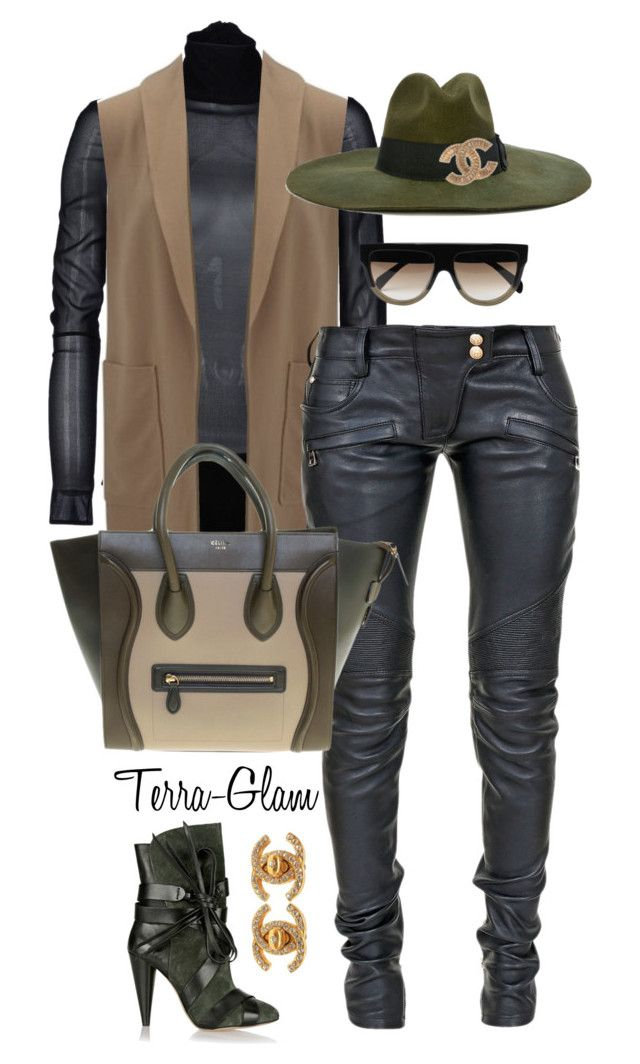 """Make Them Pieces Hit!"" by terra-glam ❤ liked on Polyvore featuring Isabel Marant, Space Style Concept, Alexander Wang, Balmain, Diesel, Chanel, CÉLINE, women's clothing, women and female"