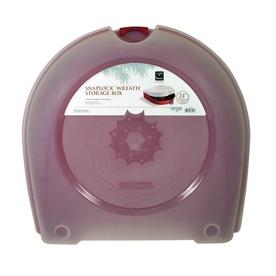 Homz Products Plastic Snaplock Wreath Storage Box Holds