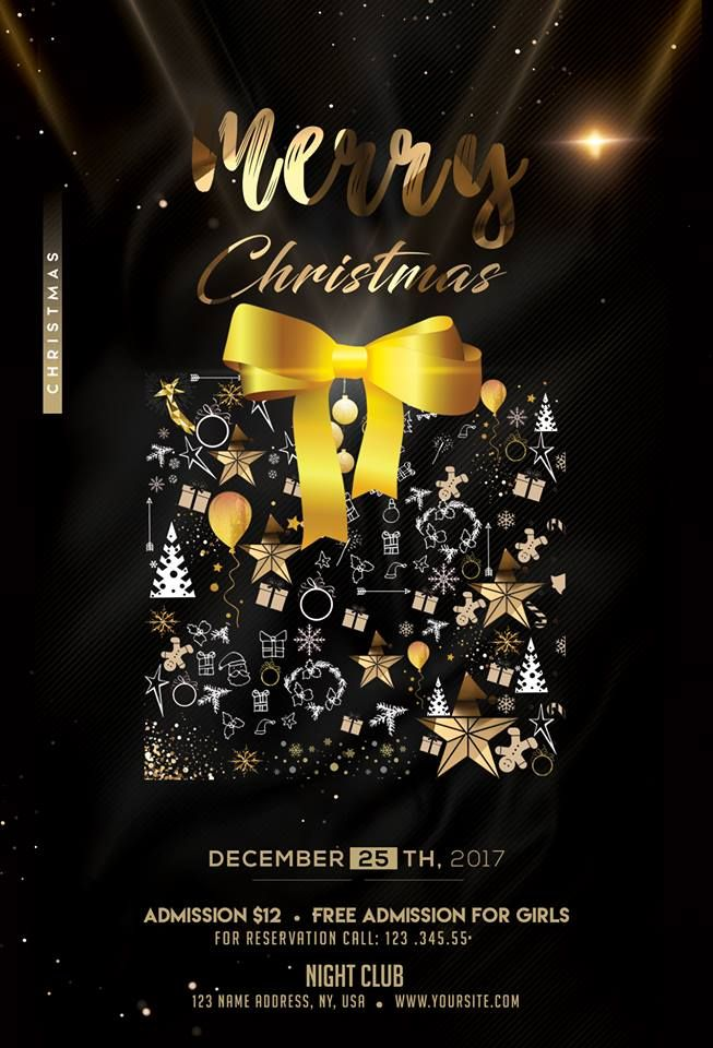 Christmas Flyers.Merry Christmas 2018 Download Psd Flyer Template Flyers