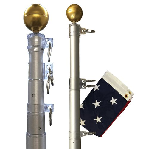 The Original Telescoping Flagpole #FlagpoleWarehouse #Original #Telescoping #Flagpole #Flagpole #American #Flag