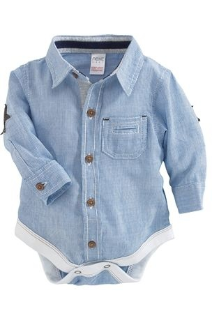 Favorite baby boy site! ...Denim Dungarees With Bodysuit