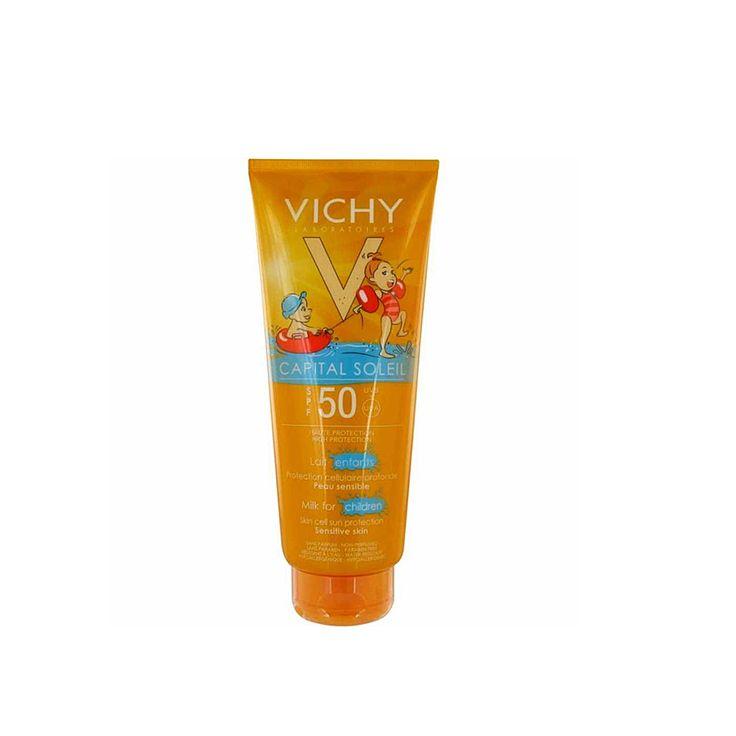 Çocukların cilt yapısı incedir, yağsız ve hassastır, güneşe korumasız olarak çıktıklarında pek çok cilt hasarına uğradıkları gibi, güneşin hücre hasarı yapıcı etkilerine açık hale de gelebileceklerdir. Zararlı UV ışınlarına karşı koruyucu olan  Vichy Capital Soleil Spf 50+ Milk For Children Güneş Sütü, Mexoryl XL Mineraller İle koruması içermektedir.