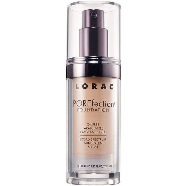 LORAC POREfection Foundation, Light 1.12 oz (33 ml) (490 ZAR) ❤ liked on Polyvore featuring beauty products, makeup, face makeup, foundation, paraben free foundation, lorac foundation, spf foundation and lorac