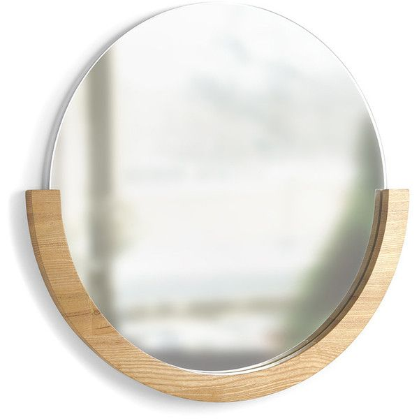 Umbra Mira Mirror (€79) ❤ liked on Polyvore featuring home, home decor, mirrors, neutral, framed mirrors and umbra mirror