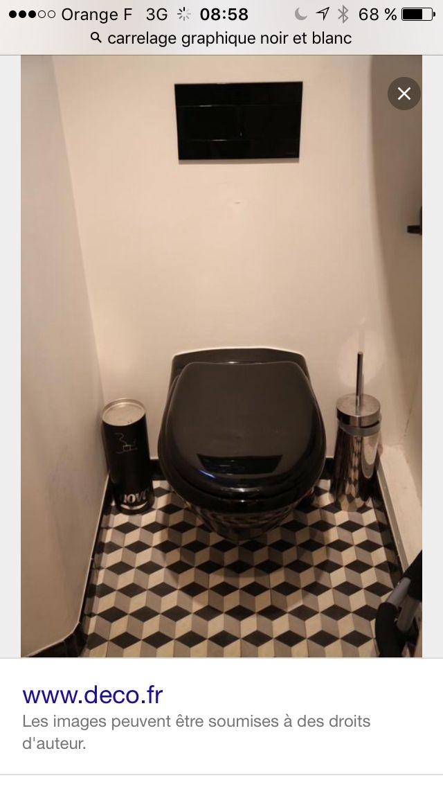 Deco Wc Noir Et Blanc. Simple Unglaublich Deco Wc Noir Toilette On ...