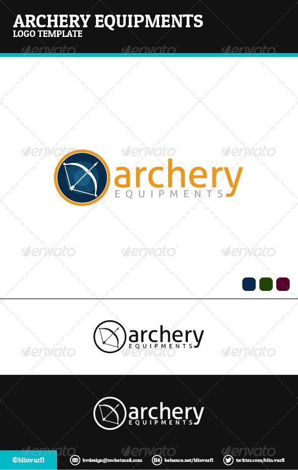 Archery Equipments Logo Template