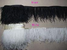 2 Camada de pena de avestruz guarnição Fringe costurado em fita Vestido Pena 5m/lot º 11 Cor(China (Mainland))