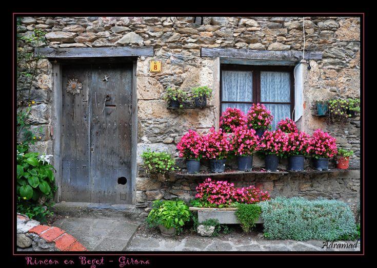 Door n window of Beget, Girona, Catalonia_ Spain