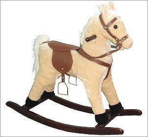Plush Palomino Small rocking horse with sound effects