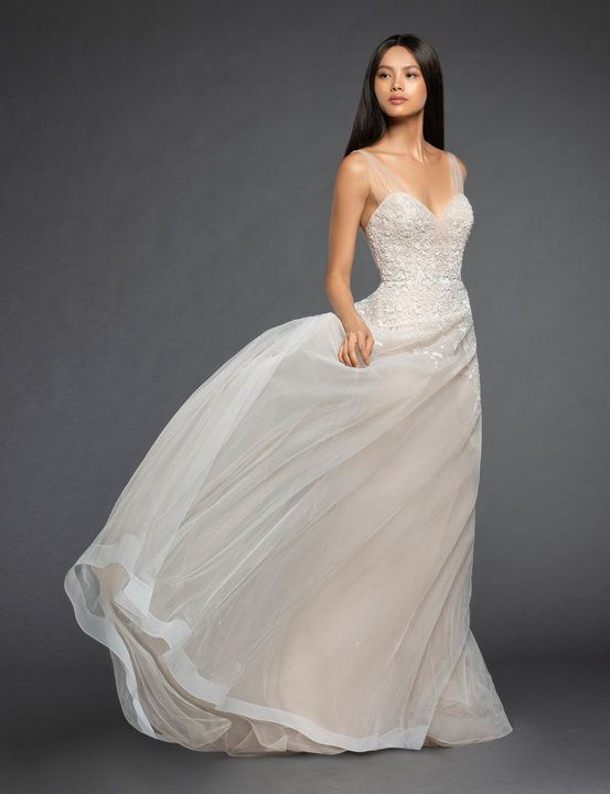 5bbf3193c012 Style 3856 Mariana Lazaro bridal gown - Nude embroidered A-line bridal gown,  sweetheart