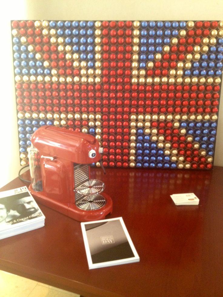 Nespresso UK capsule flag
