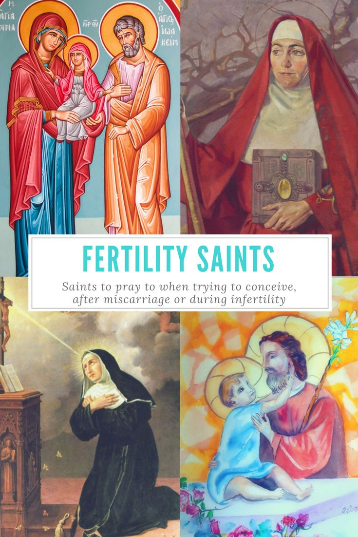 Trying to get pregnant? Pray to these Catholic Patron Saints of Infertility, Fertility, Miscarriage, and Pregnancy! St. Gerard, St. Ann, St. Gianna and more!