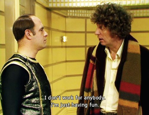 """""""State your name rank and intention."""" """"The Doctor, Doctor,...Fun."""""""