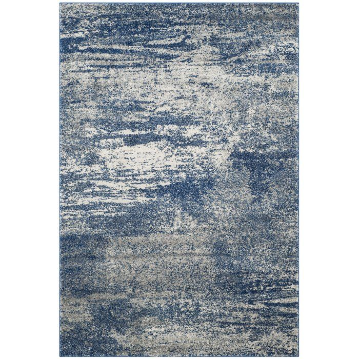 Baldwin Park Abstract Navy Ivory Area Rug Industrial Area Rugs