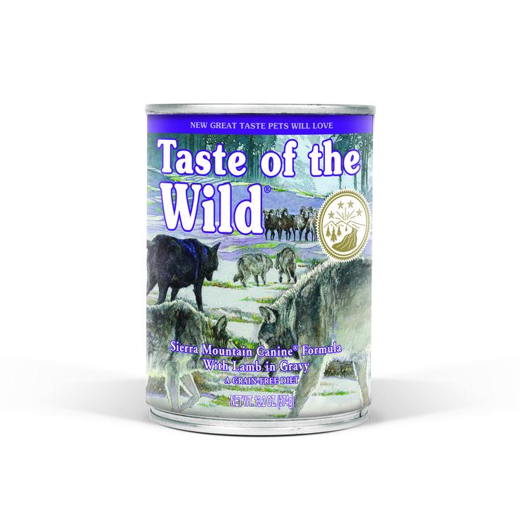 TASTE OF THE WILD GRAIN FREE MOIST DOG FOOD - SIERRA MOUNTAIN 374G CANS