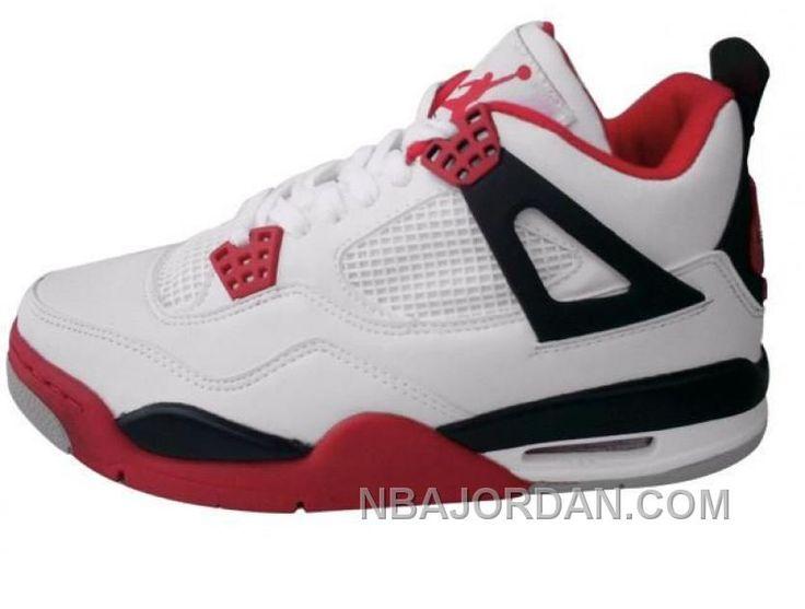 Air Jordan Retro 4 Red Black White Discount