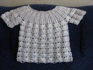 beyaz örgü tığ işi bebek çoçuk elbiseleri