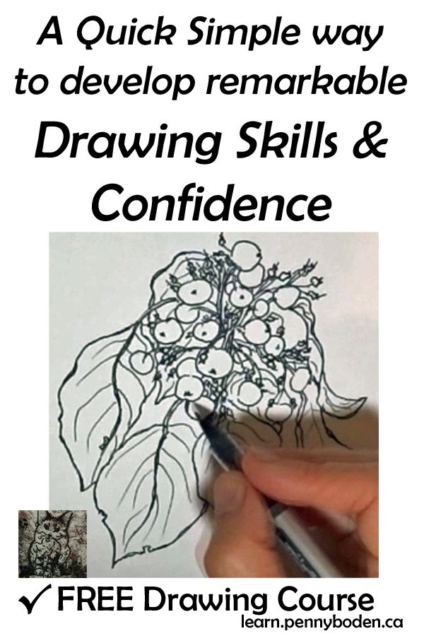 Join Professional Artist, Penny Boden, for FREE guidance based on her intuitive style of teaching. This powerful method involves NO formulas. Confidence soars as students take full ownership of their new skills.You will wonder why you didn't learn this sooner. After all, it's so simple! ...want to know more? Visit http://learn.pennyboden.ca/p/simple_sketching