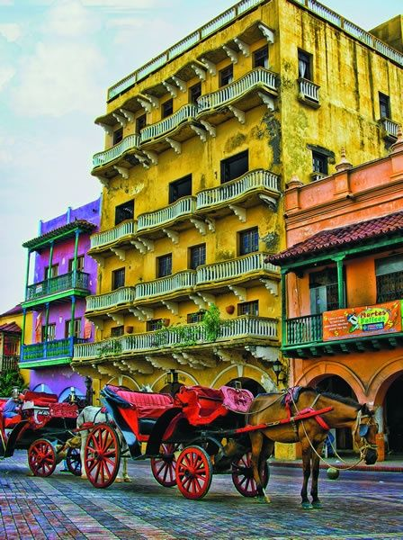 These colonial buildings in Cartagena seem well preserved and uniquely painted. I'd love to see them up close.