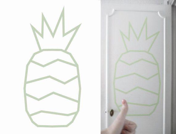 Patron ananas en masking tape