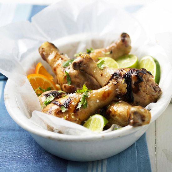 Searching for the perfect appetizer? Try our Tequila-Honey-Lime Marinated Drumsticks! Recipe: www.bhg.com/recipe/chicken/tequila-honey-lime-marinated-drumsticks/?socsrc=bhgpin072012tequilahoneylimedrumsticks