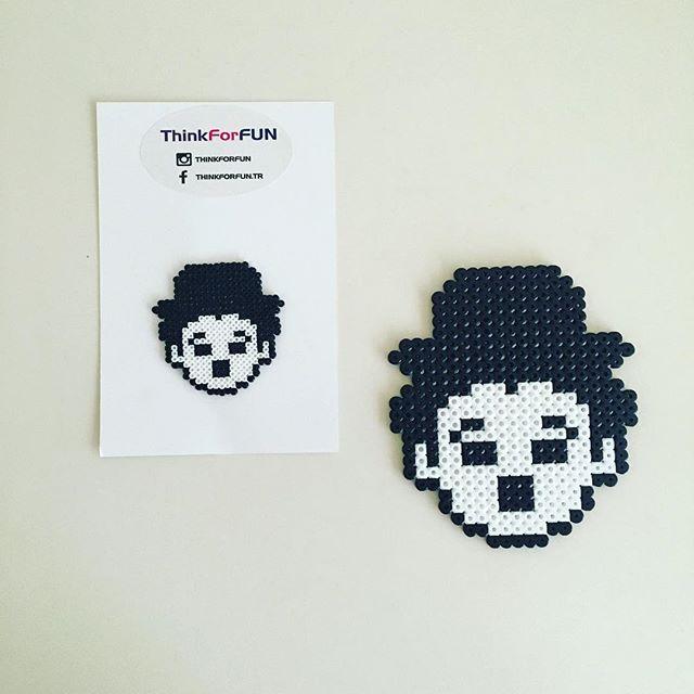 Charlie Chaplin hama mini/midi beads by thinkforfun