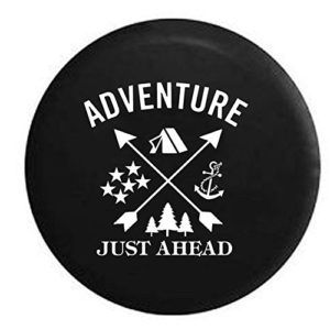 Camping Woods Anchor Stars Adventure Just Ahead Jeep Tire Cover