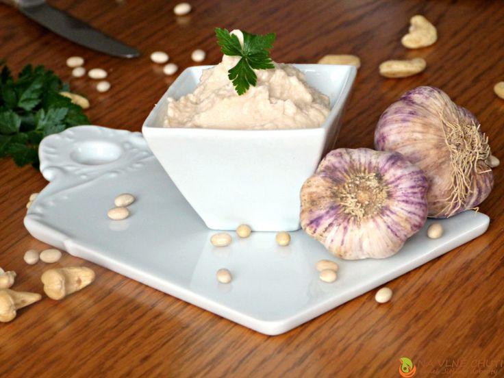 Fazolová česneková pomazánka – Na vlně chuti – Jitčiny Dobroty