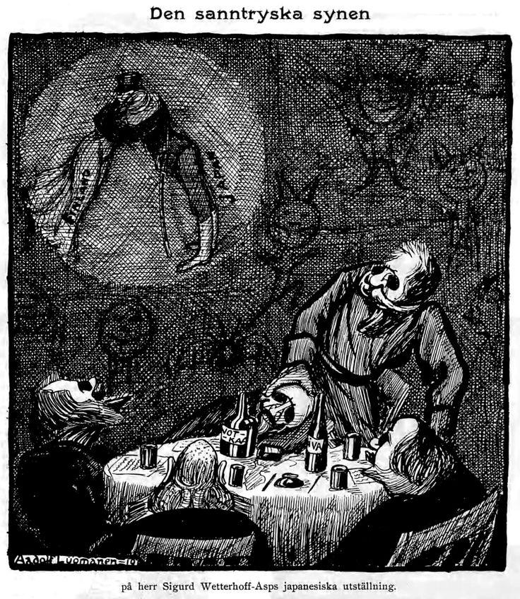 Wettenhovi-Aspa (Wetterhoff-Asp) Fyren magazine 14.5.1910 - Den sanntryska synen på herr Sigurd Wetterhoff-Asps japanesiska utställning.